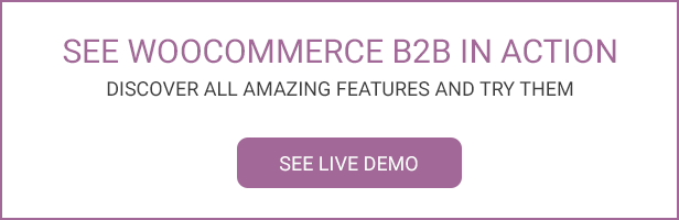 WooCommerce B2B - Demo